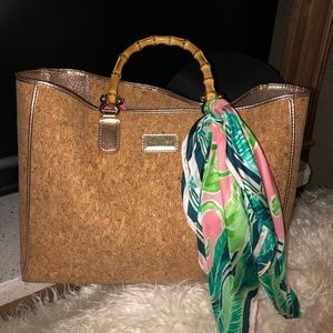 Lilly Pulitzer Soirée cork tote 👜